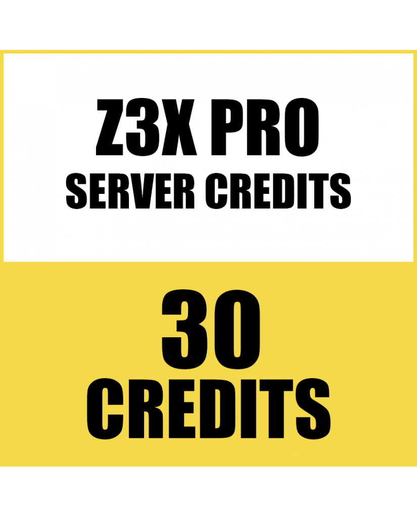 30CREDITS FOR Z3X PRO