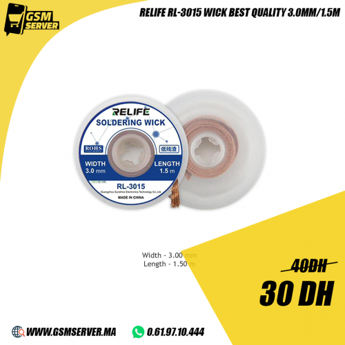 Relife RL-3015 Original Wick Soldering 3.0mm 1.5m